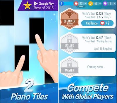 Tampilan Game Piano Tiles 2