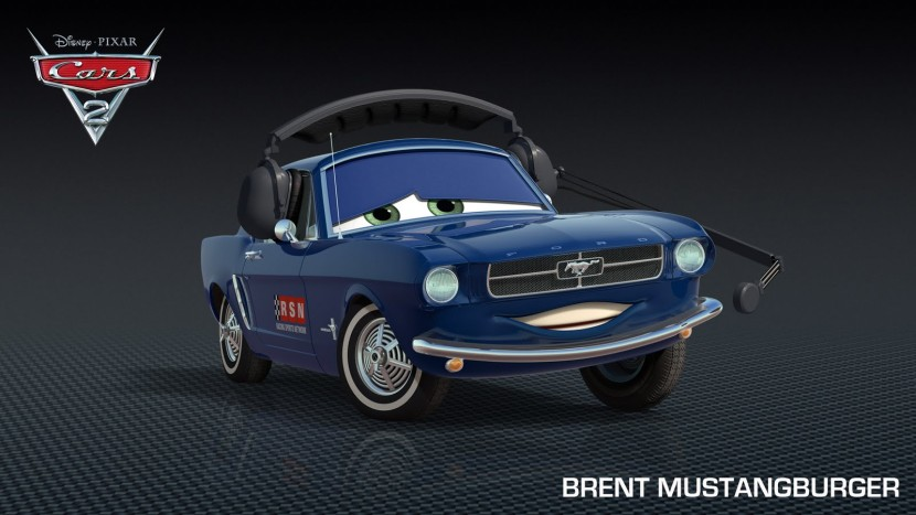 Brent Mustangburger in Cars 2 2011 animatedfilmreviews.filminspector.com
