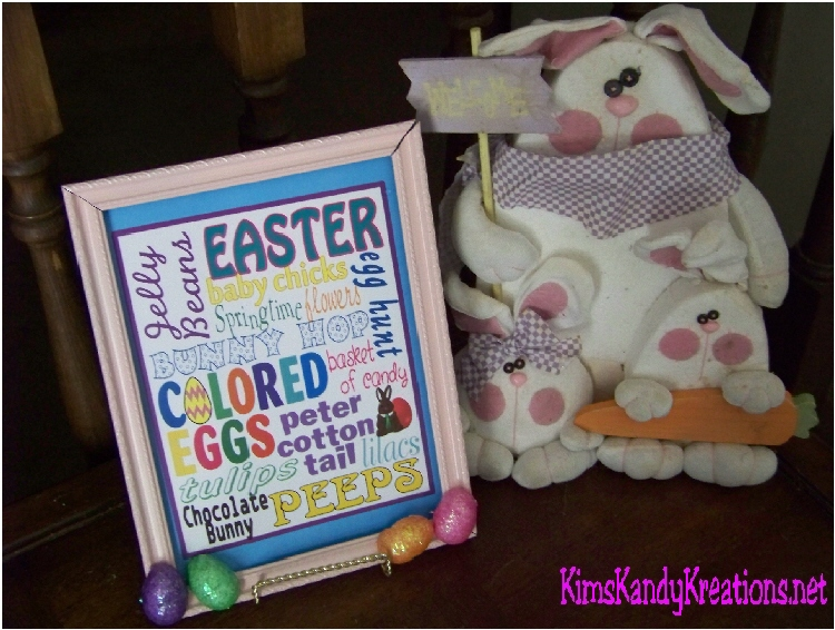 Easter Subway Art Printable by Kandy Kreations
