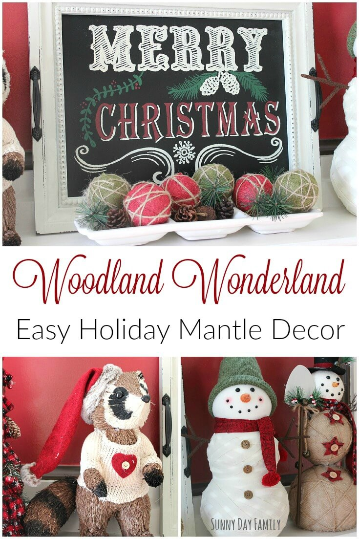 Transform your mantle into a festive woodland wonderland with these easy Christmas mantle decorating ideas! See how to create a festive holiday mantle with easy holiday decor.