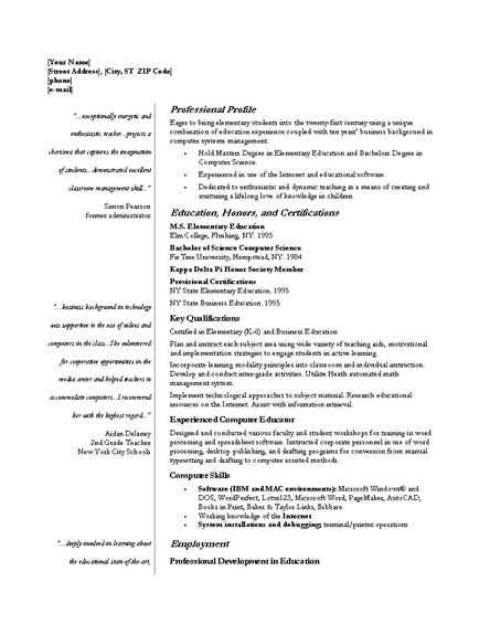 Sample Resume With Ojt Experience