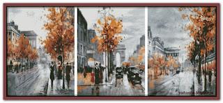 Городские зарисовки триптих 3