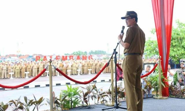 Harnojoyo Pimpin Langsung Apel Gabungan Aparatur Sipil Negara di BKB