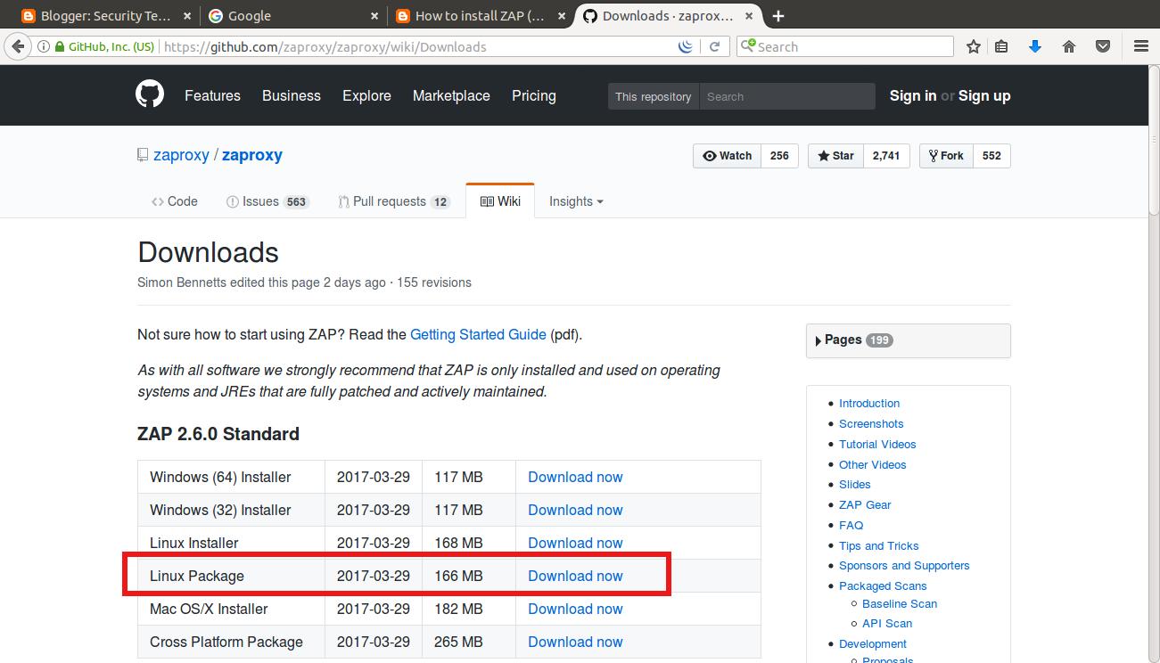 How to install ZAP (Zed Attack Proxy) in ubuntu ~ Tech