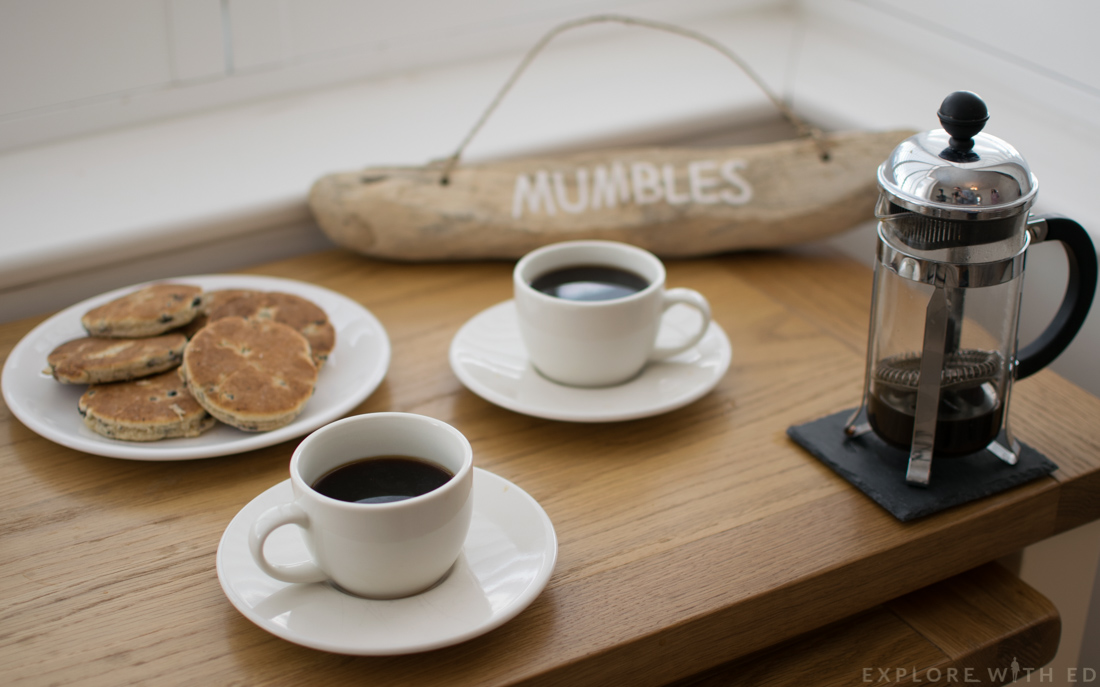Coffee and welshcakes, Mumbles Holiday Home
