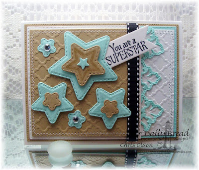 our daily bread designs, Superstar, double stitched star dies, beautiful borders, square dies, double stitched square dies, Flourished Star pattern die, deisgned by Chris Olsen