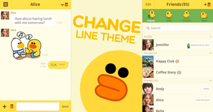Cara Mengganti Tema LINE di Hp Android Secara Gratis