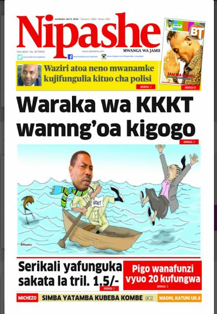 Magazeti ya leo Jumamosi June 09,2018