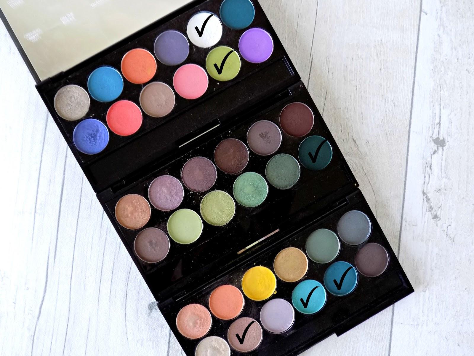 Sleek eyeshadow palettes