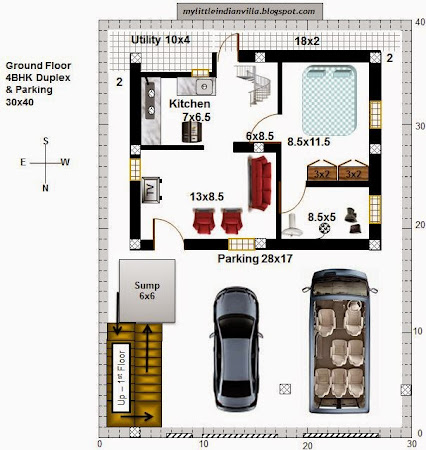 best duplex house plans for 30x30 site east facing photos - fresh
