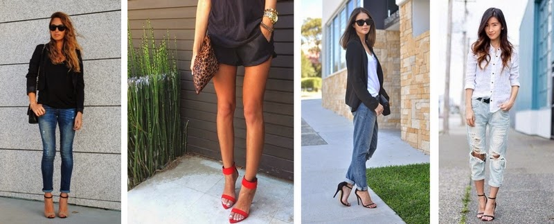 Strappy heels - outfit ideas