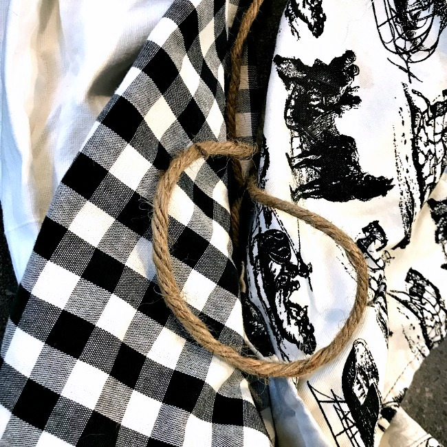 Buffalo check and toile fabric