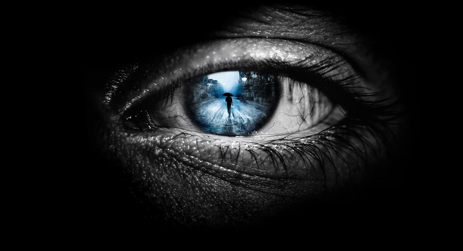 Eyes Universe Cool Black Wallpaper