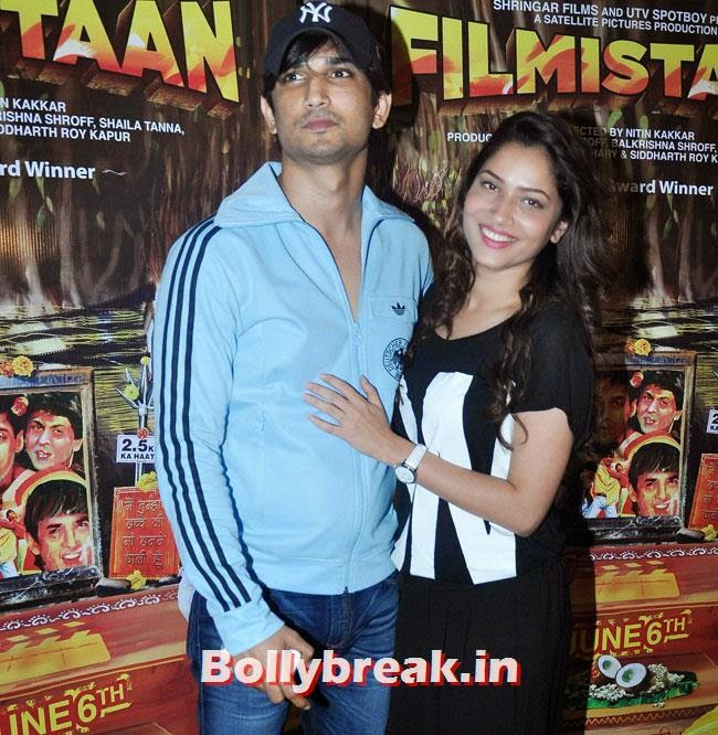 Sushant Singh Rajput and Ankita Lokhande, Vidya Balan, Tabu at Special Screening of movie 'Filmistaan'