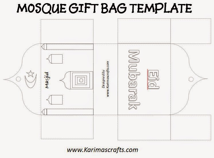 Karima\u0027s Crafts Mosque Gift Bag Template - 30 Days of Ramadan Crafts