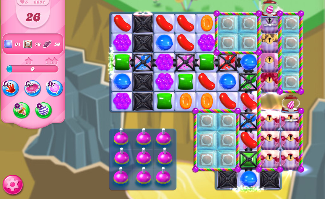 Candy Crush Saga level 6681