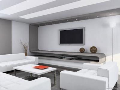 model desain interior ruang tamu eksklusif keren
