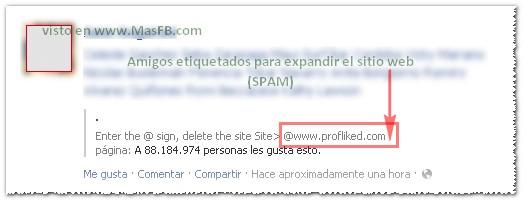 ProFliked Facebook Spam