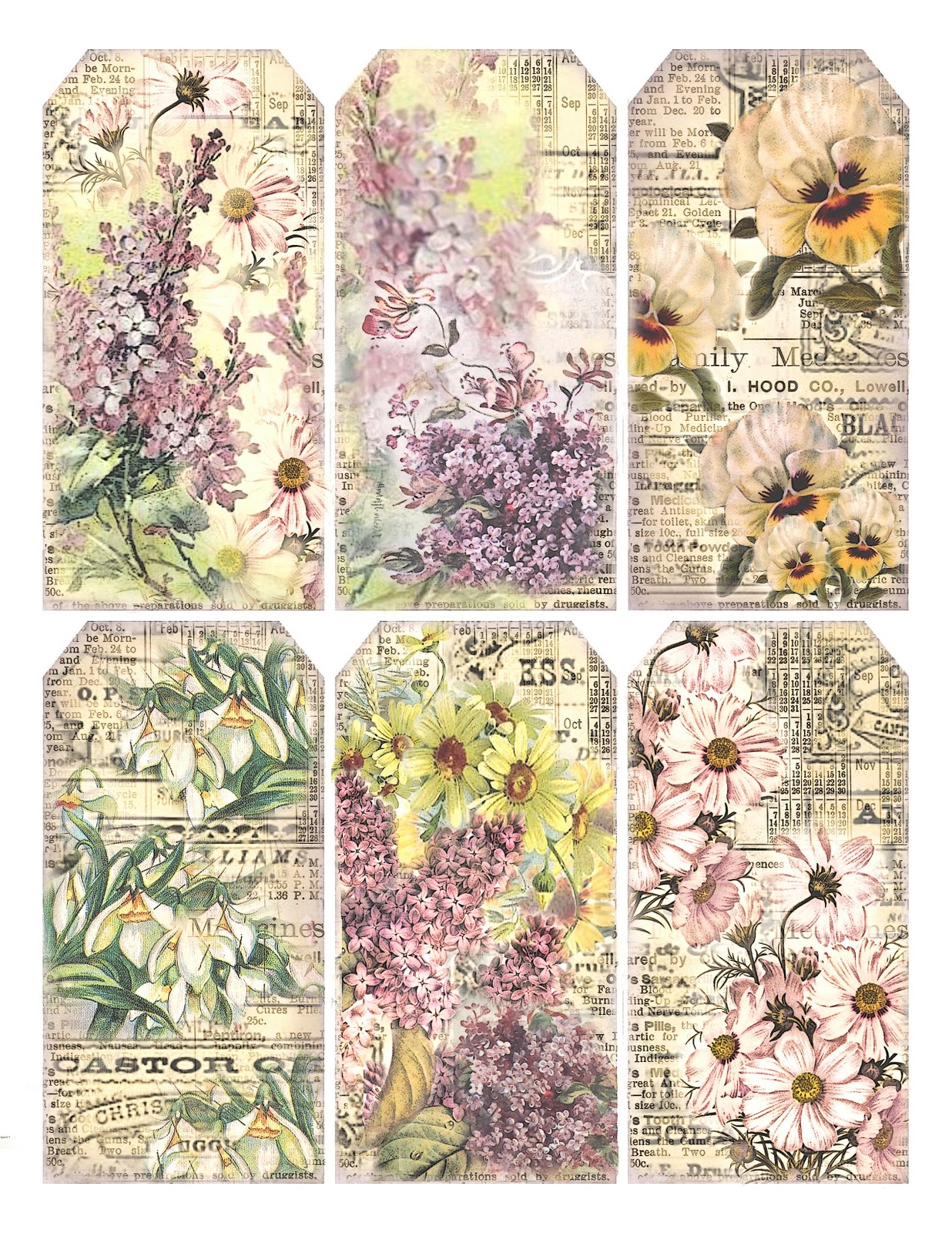 lilac amp lavender springtime gift tags