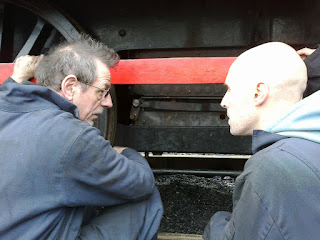 Ian and Chris discussing Twizell's linkages
