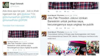 KALAP DAN PANIK! Akun Twitter Ahok ANCAM Ungkap Kecurangan Jokowi ke Publik