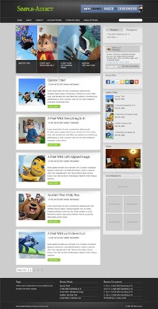 Simple-Addict Free WordPress Theme