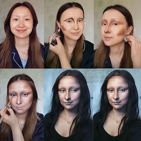 Make Over Mona Lisa Ini Sangat Mirip Hasilnya Dan Viral