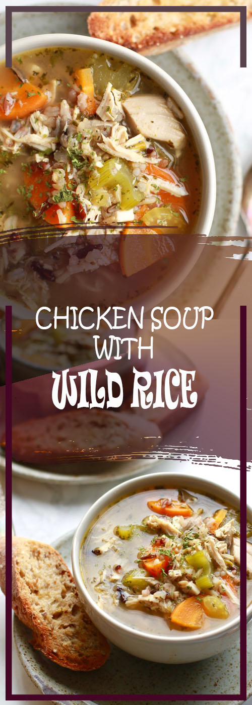 CHICKEN SOUP WITH WILD RICE RECIPE
