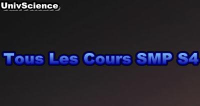 Tous Les Cours  SMP S4