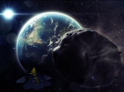 Ha'tak con asteroide