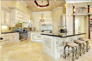 A well organised kitchen with everything in white