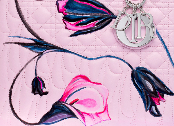 leather painting, leather stitching learther embroidery, dior bag,