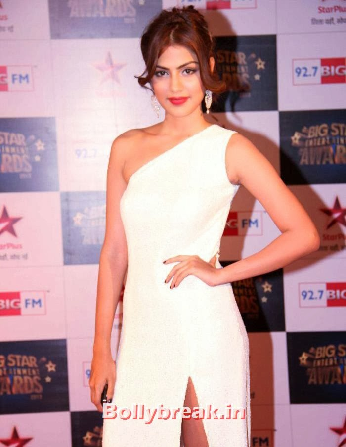 Rhea Chakraborty, Tv babes Sizzle on Big Star Entertainment Awards 2013 Red Carpet