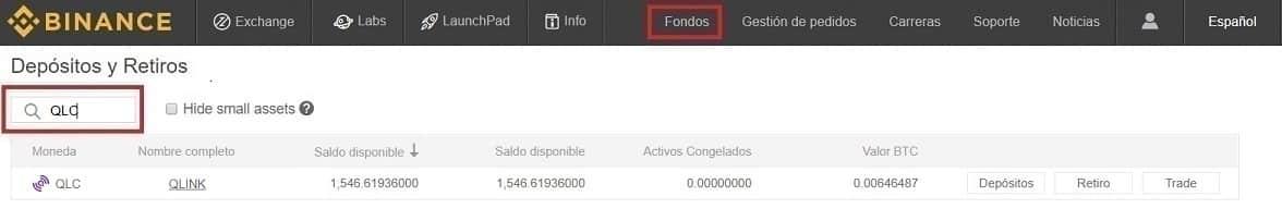 Comprar QLINK (QLC) y mandar a wallet oficial configurar con imágenes
