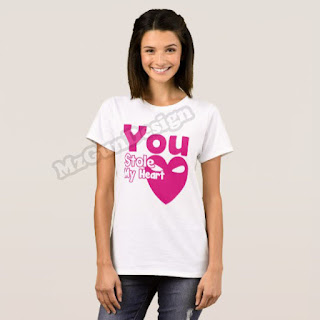 You Stole My Heart T-Shirt Design - MzGunDesign