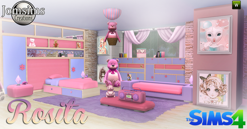 My sims 4 blog rosita bedroom set by jomsims