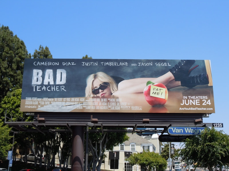 Bad Teacher movie billboard