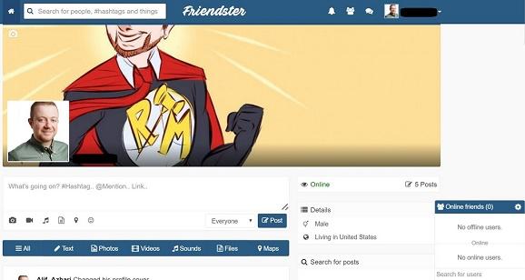 Friendster Hidup Lagi, Friendster mempunyai penampilan yang begitu serupa dengan Facebook