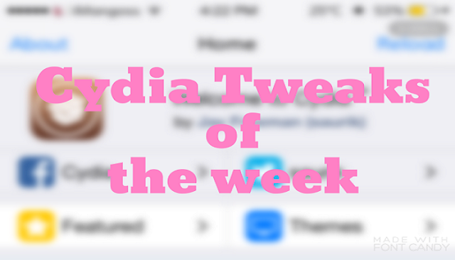 It's time to look at some new cydia tweaks for iOS 9 released in this week for your jailbroken iOS devices which you might missed this week