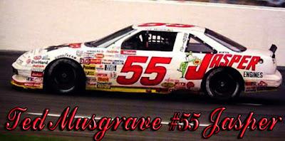 Ted Musgrave #55 Jasper Racing Champions 1991 1/64 NASCAR diecast blog