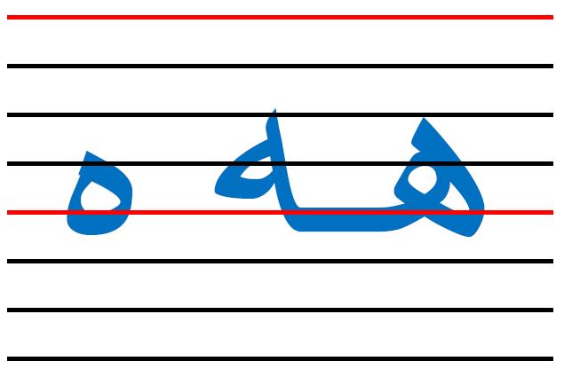 x8 - المقاييس الصحيحة  في الكتابة لكل الحروف العربية