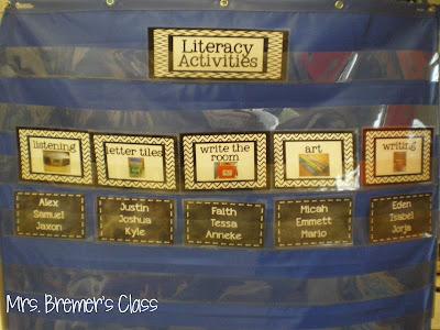 Literacy Activities Rotation Board