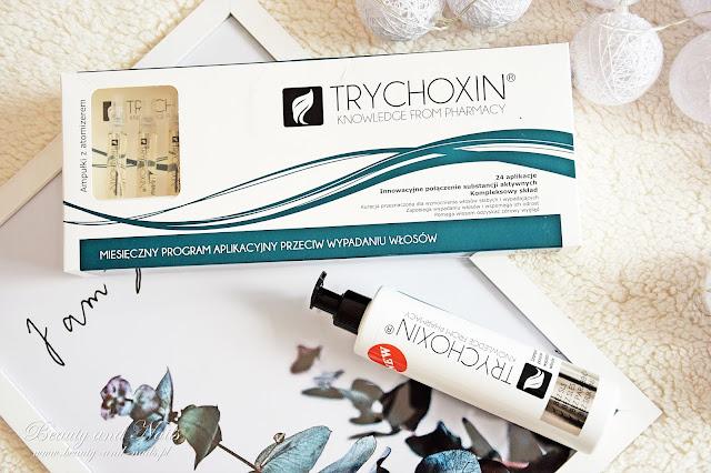 TRYCHOXIN miesięczna kuracja przeciw wypadaniu włosów w ampułkach + szampon.
