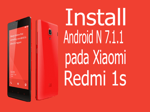 Download Custom Rom Nougat 7.1.1 untuk Redmi 1s | Resurrection Remix N v5.8.0