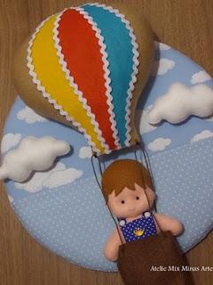 enfeite porta maternidade balão