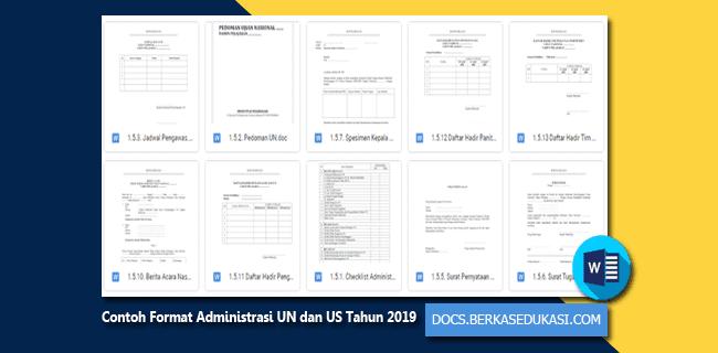 Contoh Format Administrasi UN dan US untuk Tahun 2019