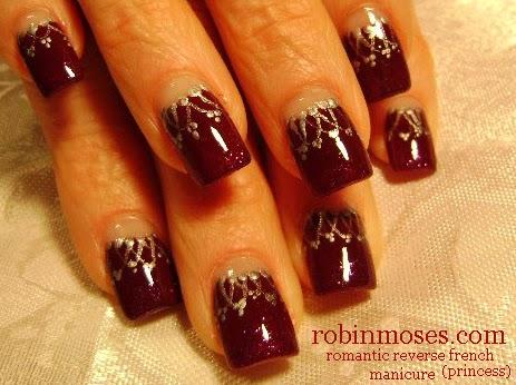 Nail Art By Robin Moses Elegant Nail Art Christmas Party Nails
