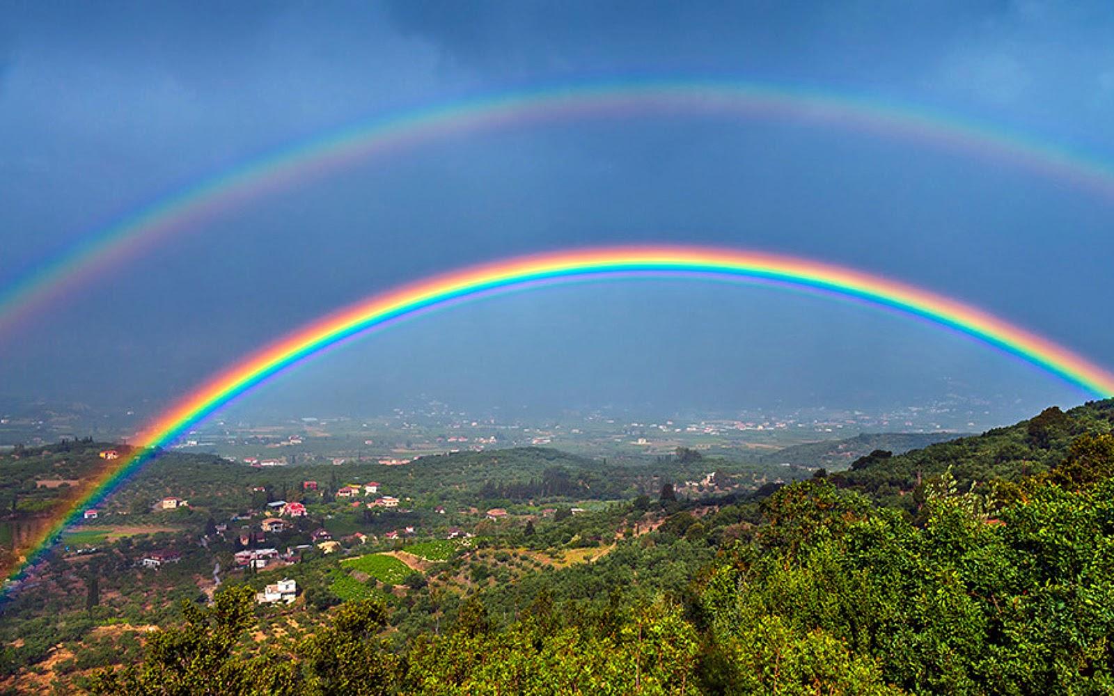 Красивые виды радуги фото