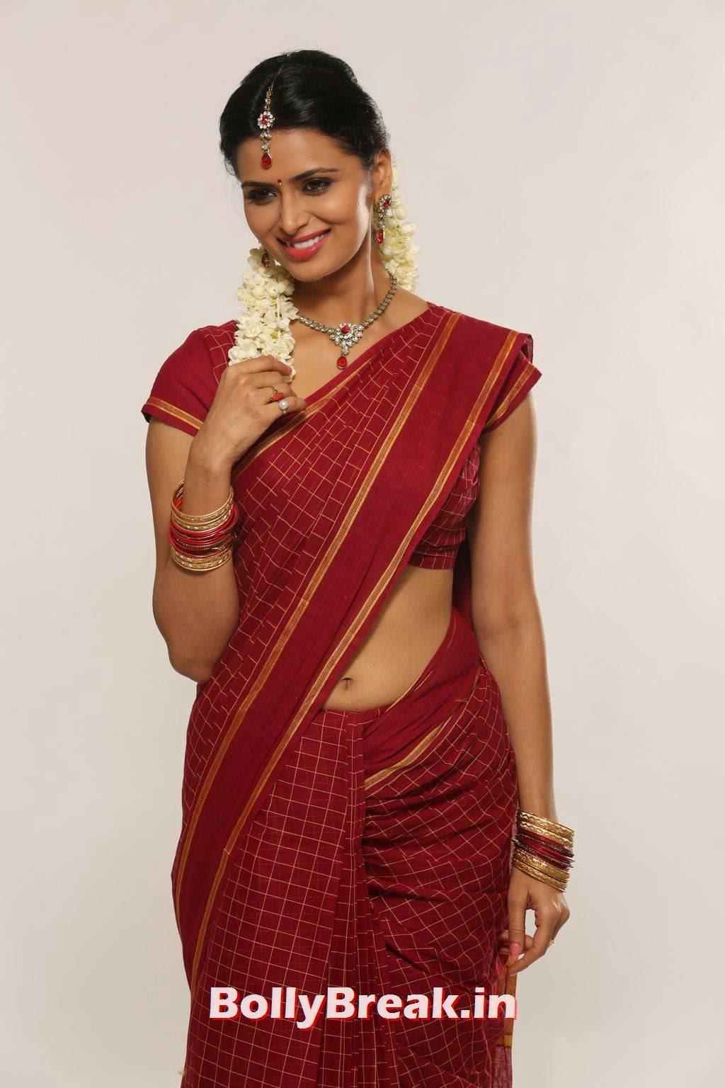 , Meenakshi Dixit hot Photos in Saree from Takkar Movie