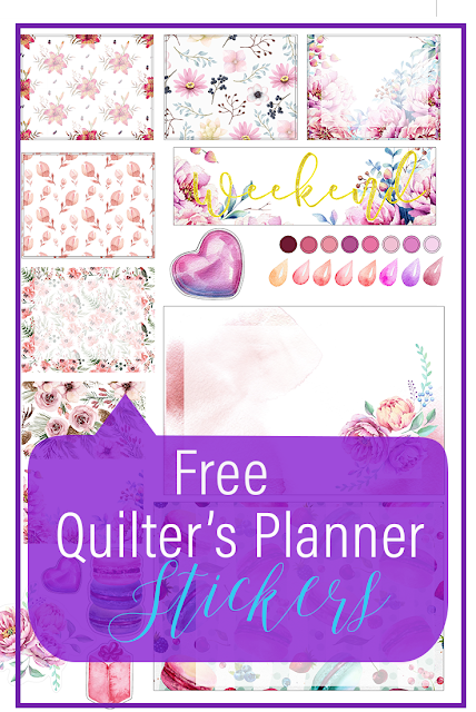 Free Stickers to Use in your Quilter's Planner to beautify and help you get the most out this useful tool. Click through to grab it.